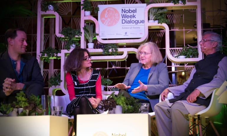 Nobel Prize Laureates at a pop-up discussion about the future of food