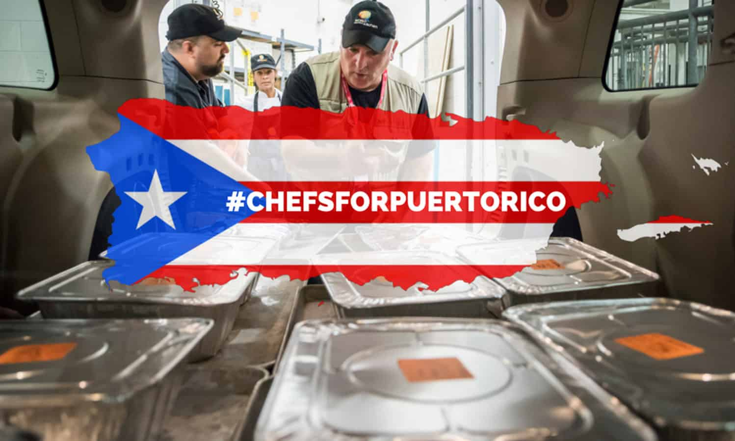 Celebrity chef Jose Andrés is working alongside local Puerto Rican chefs to feed more than 5,000 Puerto Ricans per day in the wake of Hurricane Maria.