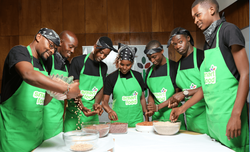Smart Food Kenya challenged students and young chefs to impress with innovative and delicious dishes with legumes, millets, and sorghum in a cooking competition TV show.