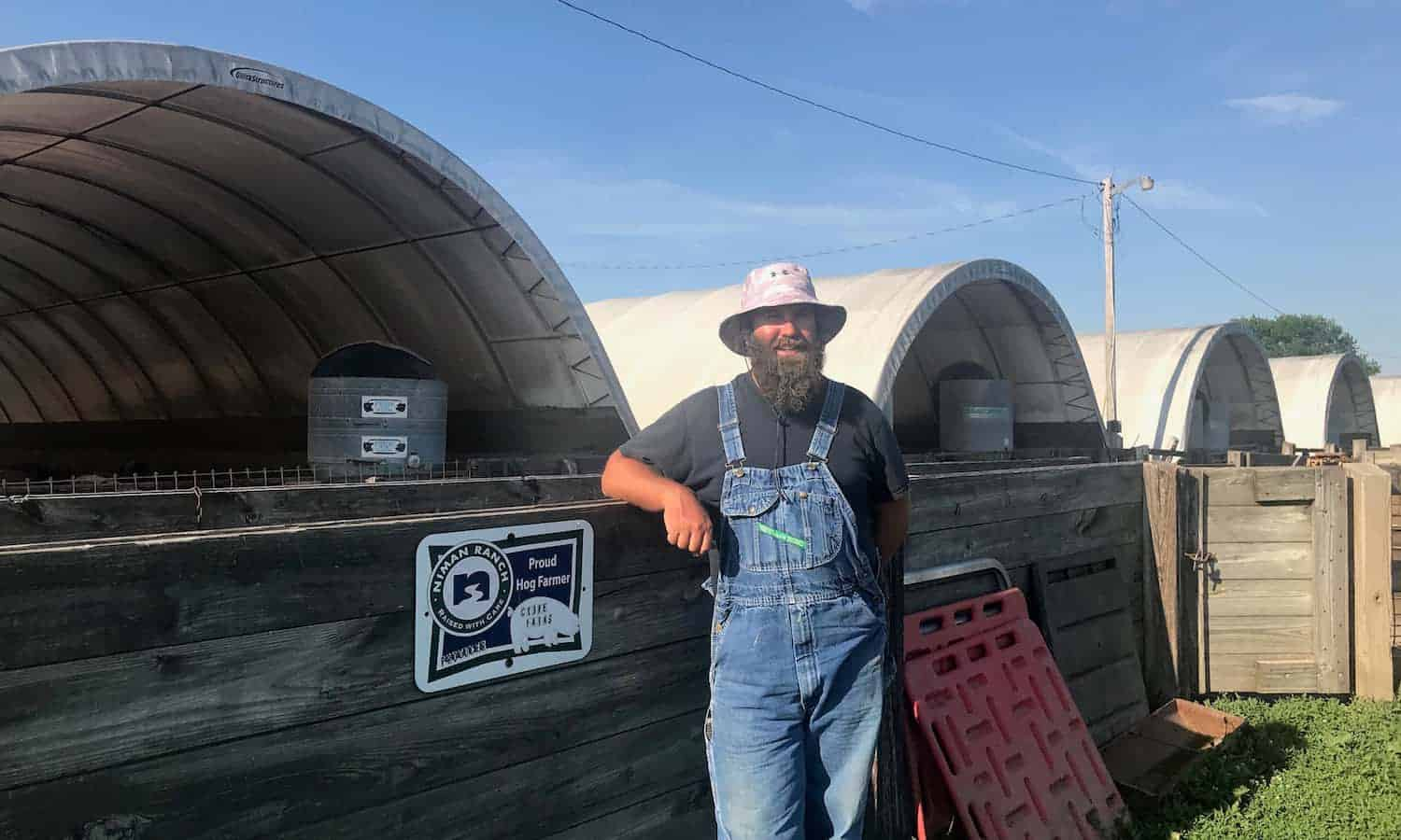 "Niman Ranch farmer Adair Crowe embraces the ""old"" and the new: new technologies help keep ""old"" fashioned farming methods efficient and sustainable."