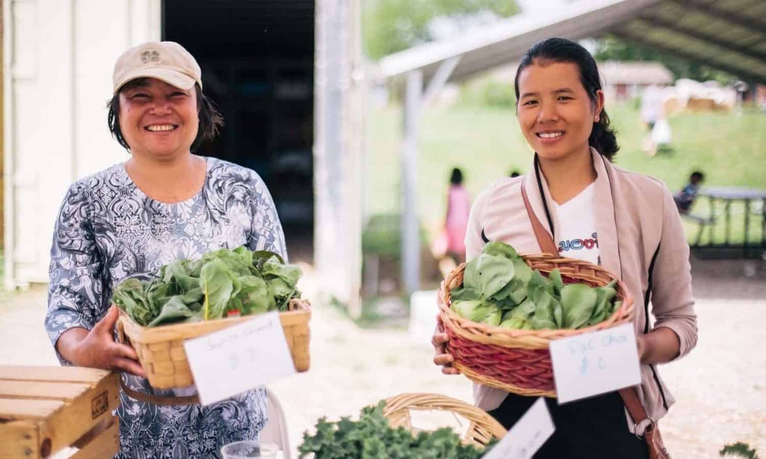 New Roots for Refugees supports refugees in Kansas City gain independence through a farmer education and training program.