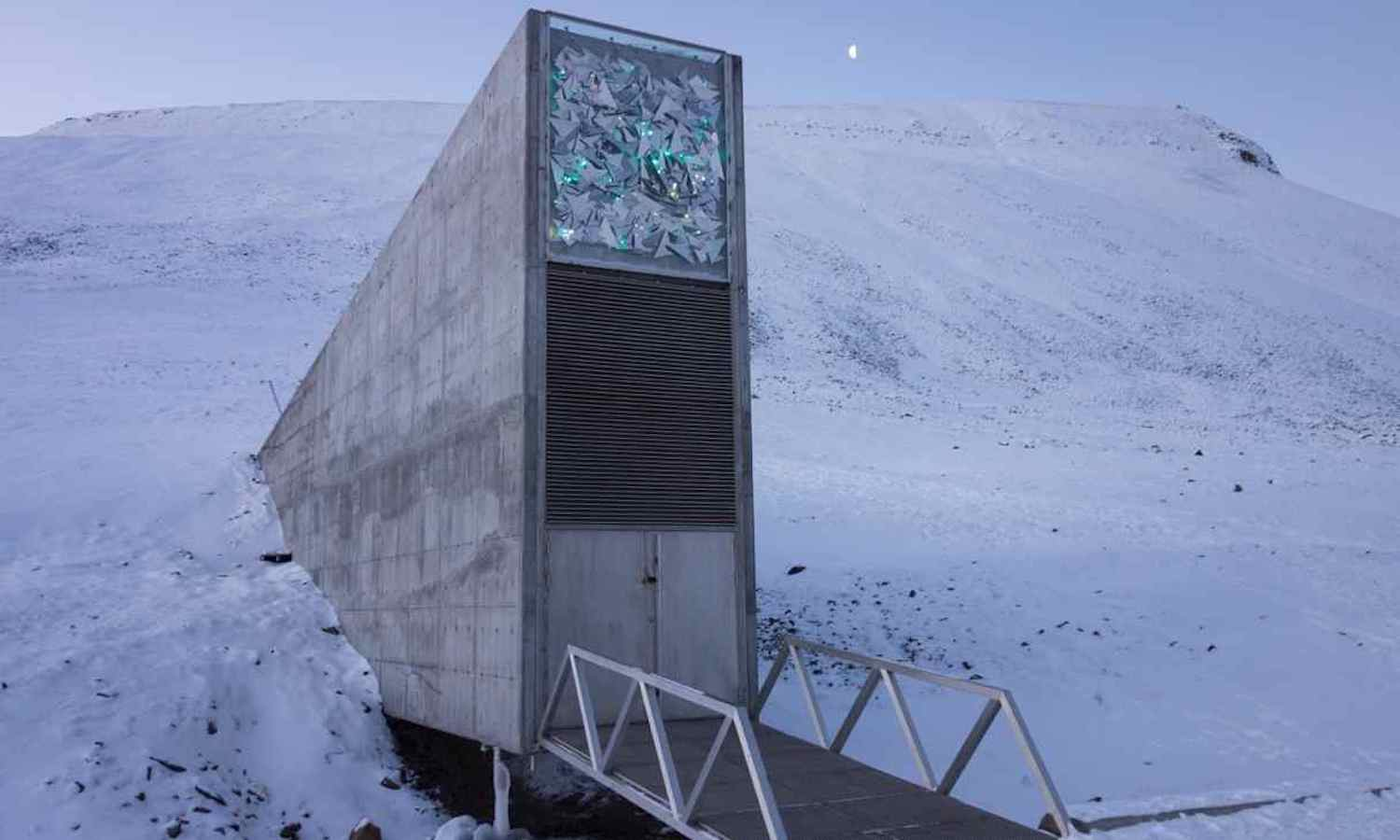 Storing nearly 1 million seeds from genebanks worldwide in a cave at -18 degrees Celsius, the Svalbard Global Seed Vault ensures that if a genebank's seeds vanish or fall into ruin, much the world's biodiversity will still remain helping ensure food security.