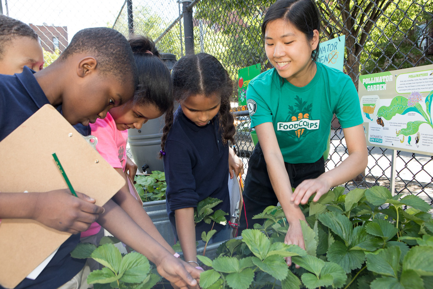 FoodCorps service members continue to serve students as they conduct food and nutrition education online and assist with emergency school meals
